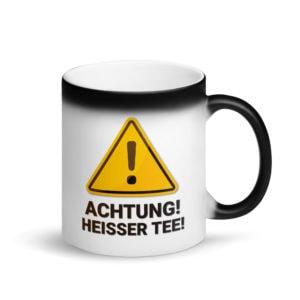 MagischeTasse | Zaubertasse: Achtung! Heißer Tee! Mit zauberhaften Farbeffekt!