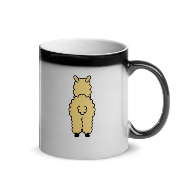 MagischeTasse | Tier-Zaubertasse | Die Zaubertasse für alle Lama-Liebhaber! Diese Tasse zeigt die Vorher- und Rückseite von einem süßen Lama.