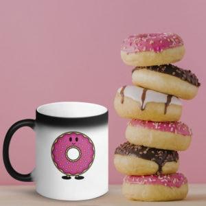 MagischeTasse | Donut-Zaubertasse: Zaubertasse mit einer Donut für alle Donut-Liebhaber