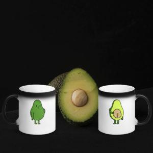 MagischeTasse | Avocado-Zaubertasse: Zaubertasse mit einer Avocado für alle Avocado-Liebhaber