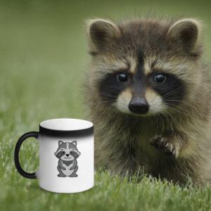 MagischeTasse | Tier-Zaubertasse | Die Zaubertasse für alle Waschbär-Liebhaber!