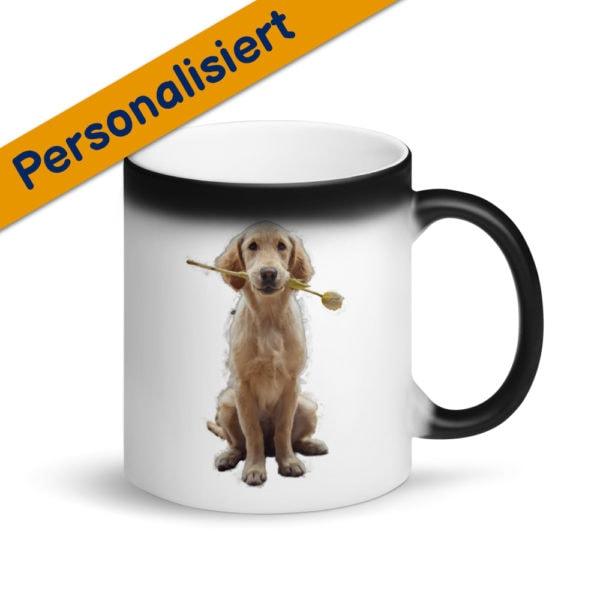 MagischeTasse | Personalisierte Tasse mit Foto | Personalisierte Zaubertasse mit Foto von deinem Hund
