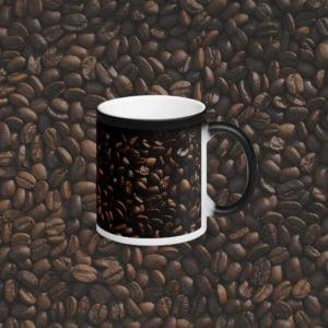 MagischeTasse | Einfach nur Kaffee! Foto-Zaubertasse mit Kaffeebohnen