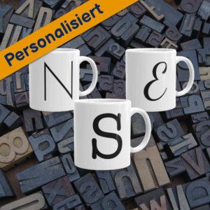 MagischeTasse | Personalisierte Tasse mit Buchstabe in unterschiedlichen Schriftarten