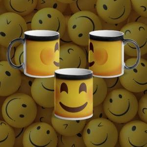 MagischeTasse | Lustige Emoji-Zaubertasse mit lächelndem Smiley :-)