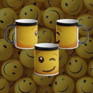 MagischeTasse | Lustige Emoji-Zaubertasse mit zwinkerndem Smiley ;-)