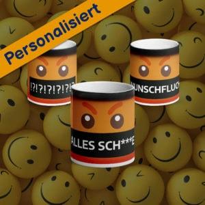MagischeTasse | Emoji-Zaubertasse mit fluchendem Smiley & Wunschfluch