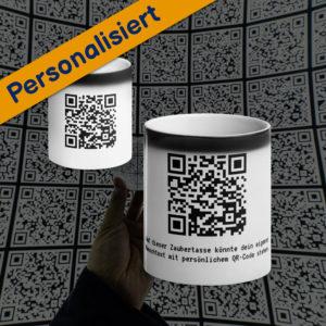 MagischeTasse | Personalisierte Zaubertasse mit Wunschtext im QR-Code