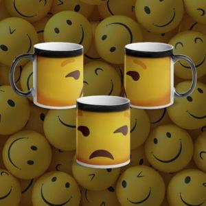 MagischeTasse | Lustige Emoji-Zaubertasse mit genervtem Smiley